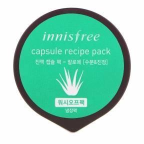 Капсульная Маска Увлажняющая Успокаивающая С Экстрактом Алоэ Innisfree Capsule Recipe Pack Aloe