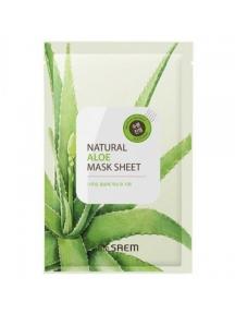 Маска успокаивающая с экстрактом алоэ The Saem Natural Aloe Mask Sheet 21ml