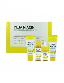 Набор: тонер, сыворотка, крем-гель и маска осветляющие с экстрактом юдзу Some By Mi Yuja Niacin 30 Days Brightening Starter Kit 90ml