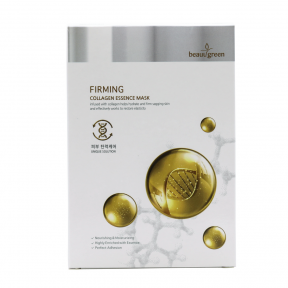 Маска тканевая увлажняющая с экстрактом морских коллагенов для лица BeauuGreen Premium Firming Collagen Essence Mask 23ml