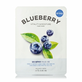 Тканевая маска для лица освежающая с экстрактом черники It's Skin The Fresh Blueberry Mask Sheet, 21ml