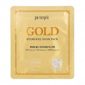 Гидрогелевая Маска Увлажнение И Восстановление С Коллоидным Золотом Petitfee GOLD Hydrogel Mask Pack