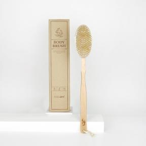 Массажная щетка с натуральной щетиной для душа и спа AOMI FEEL SPA Goddess Body Brush