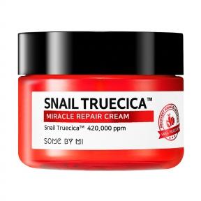 Крем для лица восстанавливающий с омолаживающим эффектом с муцином черной улитки и коллагеном Snail Truecica Miracle Repair Cream Some By Mi 60g