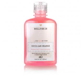 Гель для душа натуральный с ароматом сицилийского апельсина Hollyskin Sicilian Orange 250ml