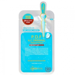 Маска успокаивающая тканевая ампульная для лица Mediheal Ampoule Mask P.D.F A.C Dressing 25ml