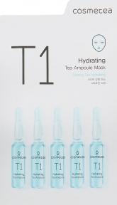Увлажняющая тканевая маска с экстрактом чая улун Cosmetea T1 Hydrating Tea Ampoule Mask 25ml