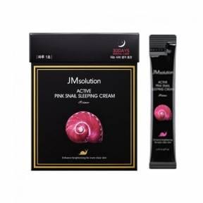 Ночной крем с муцином улитки и витамином В12 JM Solution Active Pink Snail Sleeping Cream 4ml