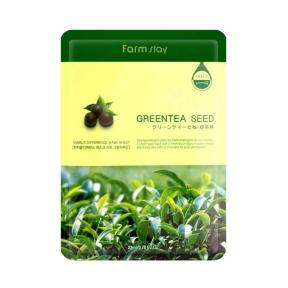 Маска успокаивающая с экстрактом зеленого чая FarmStay Visible Difference Mask Sheet Green Tea Seed 23ml