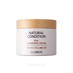 Крем для снятия макияжа с экстрактом риса The Saem Natural Condition Rice Cleansing Cream 300ml