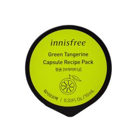 Маска успокаивающая с экстрактом зеленого мандарина Innisfree Green Tangerine Capsule Recipe Pack 10ml