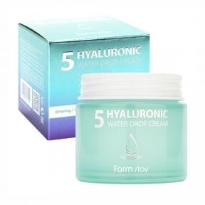 Крем увлажняющий с гиалуроновой кислотой FarmStay 5 Hyaluronic Water Drop Cream 80ml