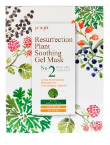 Маска тканевая увлажняющая для тусклой и уставшей кожи Petitfee&Koelf Resurrection Plant Soothing Gel Mask