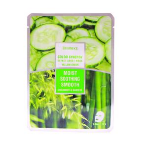 Маска Увлажняющая С Экстрактом Огурца И Сока Бамбука Deoproce Color Synergy Cucumber & Bamboo Effect Sheet Mask Yellow Green
