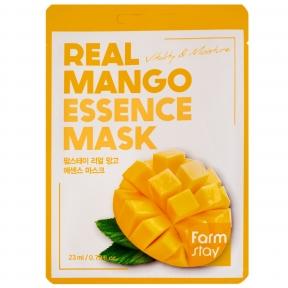 Маска тканевая с экстрактом манго для лица Real Mango Essence Mask FarmStay 23ml
