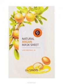Маска тканевая питательная с экстрактом арганы The Saem Natural Argan Mask Sheet 20ml