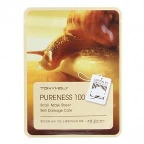 Маска Восстанавливающая Увлажняющая С Улиточным Муцином Tony Moly Pureness 100% Snail Mask Sheet