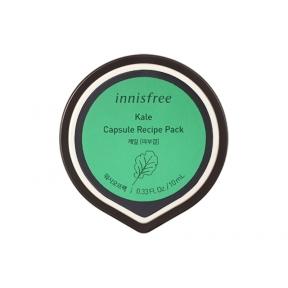 Маска ночная тонизирующая с экстрактом капусты Innisfree Capsule Resipe Pack Kale 10ml