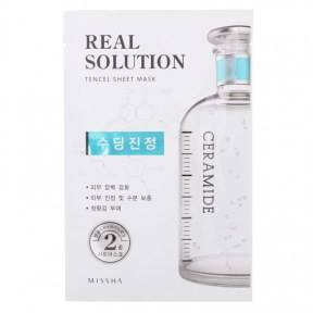 Профессиональная Маска Восстанавливающая С Керамидами Real Solution Tencel Sheet Mask #Soothing Ceramide Missha
