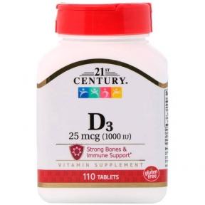 Пищевая Добавка Витамин D3 21st Century Vitamin D3 25 mcg