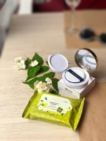 НАБОР: ВВ-кушон Missha M Magic Cushion SPF50 #21 + Салфетки Для Снятия Макияжа The Saem Healing Tea Garden Green Tea Cleansing Tissue