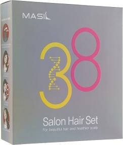 Набор средств для волос Masil 8 Seconds Salon Hair Set: Маска 8 Seconds Salon Hair Mask, 200ml + Маска, салонный эффект за 8 секунд 8 Seconds Salon Hair Mask, 8ml + Шампунь с аминокислотами 3 Salon Hair CMC Shampoo, 300ml + Шампунь с аминокислотами 3 Salon Hair CMC Shampoo, 8ml (516ml)
