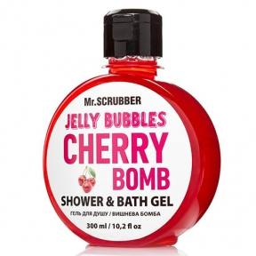 Гель для душа с ароматом вишни «Cherry Bomb» Mr.Scrubber Jelly Bubbles Shower & Bath Gel 300ml