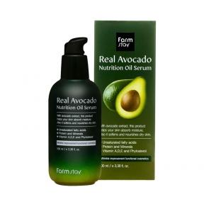 Сыворотка питательная с маслом авокадо для лица FarmStay Real Avocado Nutrition Oil Serum 100ml