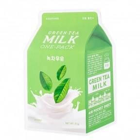 Маска С Молочными Протеинами И Зеленым Чаем  A'pieu Green Tea Milk One-Pack