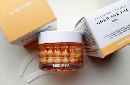 Крем для лица антивозрастной капсульный с экстрактом золотого шелкопряда MEDI-PEEL Gold Age Tox Cream 50ml