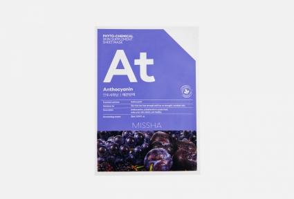 Тканевая фитохимическая маска с антоцианином для омоложения кожи Missha Phytochemical Skin Supplement Sheet Mask Anthocyanin/Lifting 25ml