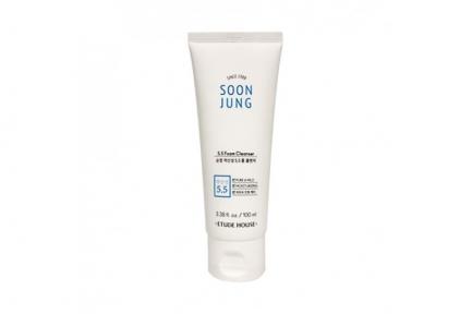 Пенка очищающая для лица Etude House Soon Jung 5.5 foam cleanser 100ml