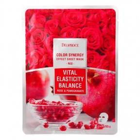 Маска Восстанавливающая С Экстрактом Розового Масла И Граната Deoproce Color Synergy Effect Sheet Mask Beige Red