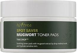 Пэды успокаивающие для лица Isntree Spot Saver Mugwort Toner Pads 60 шт
