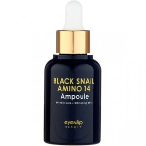 Сыворотка ампульная с аминокислотами для лица Eyenlip BLACK SNAIL AMINO 14 AMPOULE 30ml
