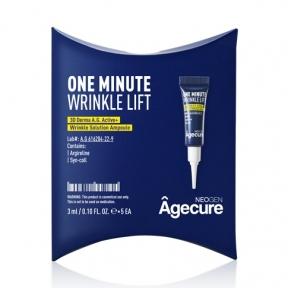 Ампула с аргирелином омолаживающая для разглаживания морщин Neogen Agecure One Minute Wrinkle Lift, 1oz/3ml