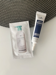 Набор: сыворотка-клей для восстановления кончиков волос La'dor Keratin Power Glue 15ml и шампунь для волос La'dor Keratin LPP Shampoo 10ml