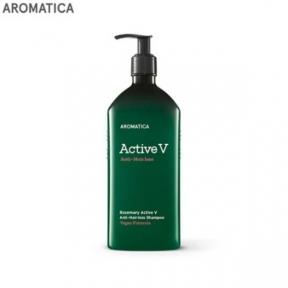 Мультивитаминный восстанавливающий шампунь от выпадения волос Aromatica Rosemary Active V Anti-Hair Loss Shampoo 400ml