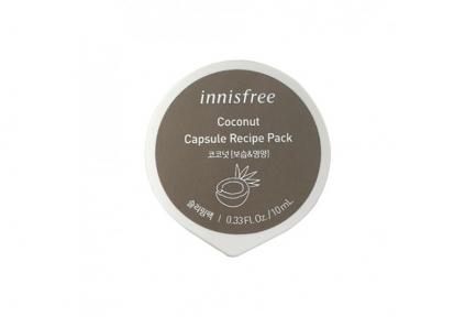 Маска ночная увлажняющая с экстрактом кокоса Innisfree  Capsule Recipe Pack Coconut 10ml