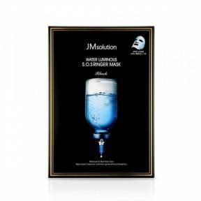 Ультраувлажняющая Тканевая Маска С Пептидами И Гиалуроновой Кислотой JM Solution Water Luminous S.O.S Ringer Mask Black