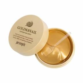 Патчи Гидрогелевые С Коллоидным Золотом И Улиточным Муцином Petitfee Gold & Snail 60шт