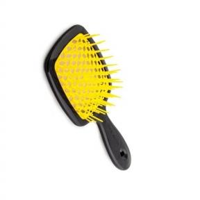 Расческа для волос черная с желтым Janeke Superbrush