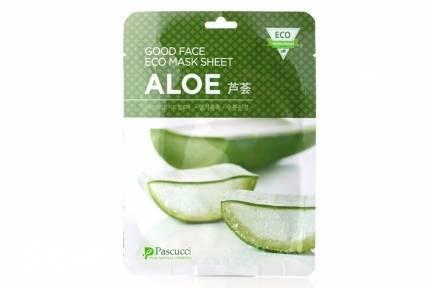 Увлажняющая Успокаивающая Маска С Экстрактом Алоэ Amicell Pascucci Good Face Eco Mask Sheet Aloe