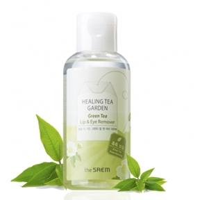 Мицеллярная вода для снятия макияжа с глаз и губ с экстрактом зеленого чая The Saem Healing Tea Garden Green Tea Lip & Eye Remover 150ml