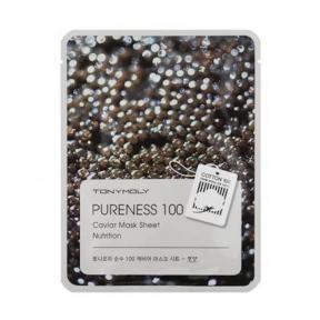 Маска укрепляющая с экстрактом икры Tony Moly Pureness 100 Caviar Mask Sheet 21ml
