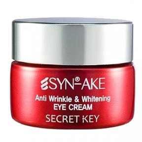 Крем антивозрастной отбеливающий для глаз Secret Key Syn-Ake Anti Wrinkle & Whitening Eye Cream 15ml