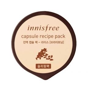 Маска ночная тонизирующая с экстрактом риса Innisfree Capsule Recipe Pack Rice 10ml