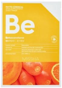 Тканевая маска с бетакаротином для восстановления кожи Missha Phytochemical Skin Supplement Sheet Mask Betacarotene/Nourishing 25ml