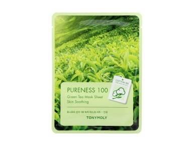 Маска С Экстрактом Зеленого Чая Увлажняющая Успокаивающая Tony Moly Pureness 100 Green Tea Mask Sheet