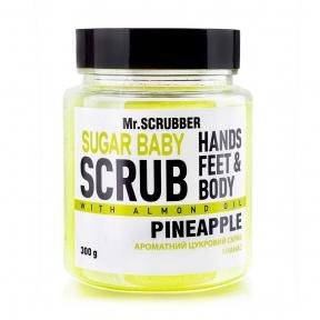 Скраб сахарный с ароматом ананаса для тела Mr.Scrubber Sugar Baby Pineapple 300g
